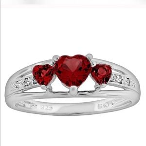 Kay jewelers sapphire Heart silver Diamond Accent